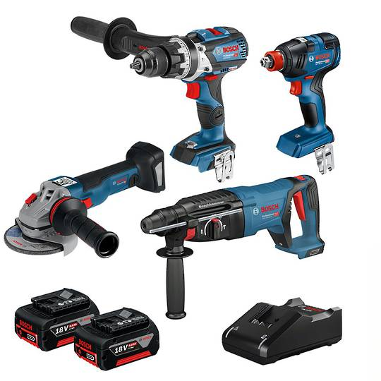 Bosch 4pc Brushless Heavy Duty 6AH Combo Kit