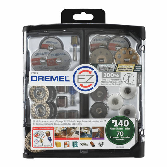 Dremel EZ725 EZLock Accessories Kit 70pc