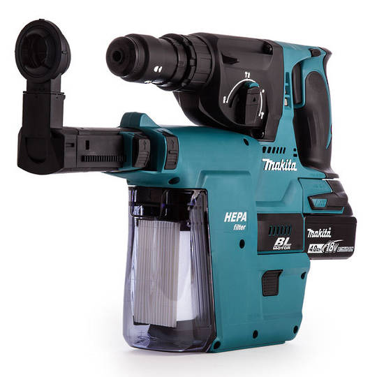 Makita DHR243RTEV 18V Rotary Hammer Kit with Hepa Extractor