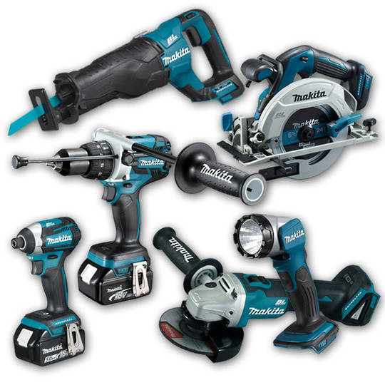 Makita 18v Brushless Combo Kit 6pc 5Ah