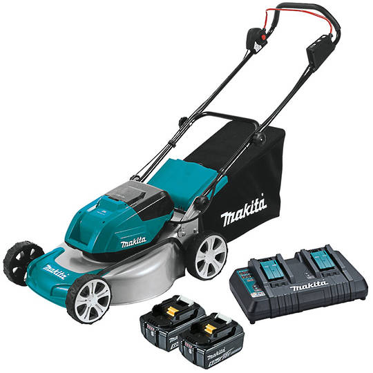 Makita 18Vx2 (36V) Brushless 460mm Metal Deck Mower Kit