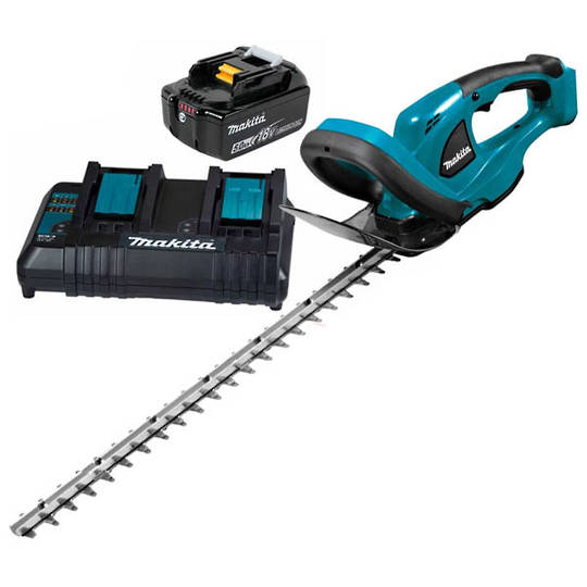 Makita 18V Cordless 520mm Hedge Trimmer 5Ah Kit
