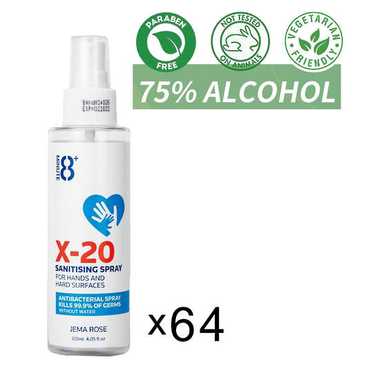 Sanitiser Spray 120ML x64 bottles, 75% Alcohol
