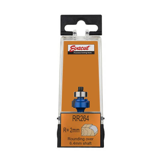 Evacut Rounding Router Bits 6.4mm Shank
