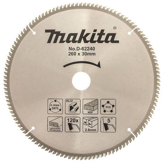 Makita Multi-Material TCT Blade 260mm 120t