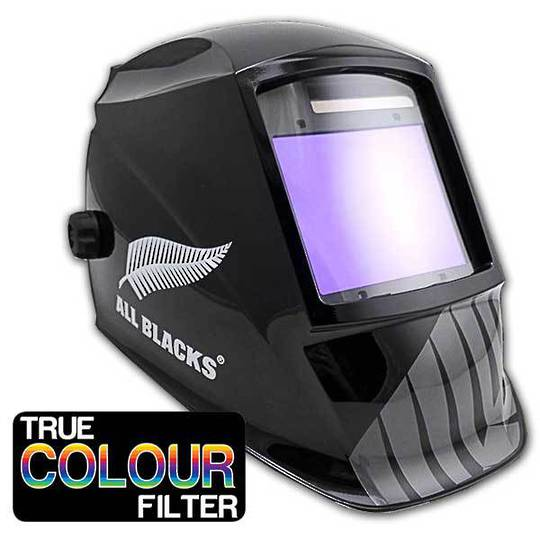 All Blacks Titanium Welding Helmet with Wide True Colour Lens