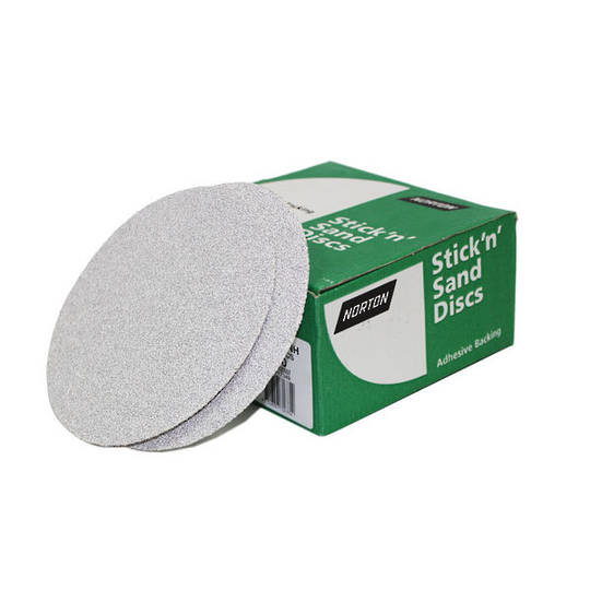 Norton 150mm No-Fil Sticky Back Sanding Discs