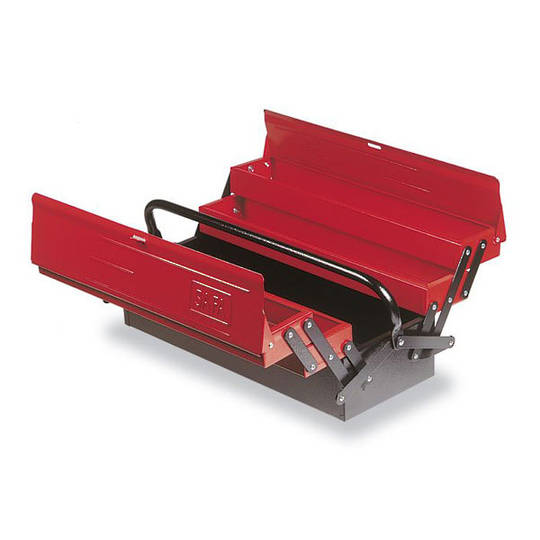 Safa Folded Toolbox 4 Cantilever Trays