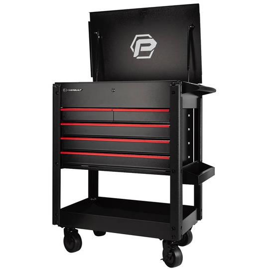 Powerbuilt 5 Drawer Rolling Service Cart