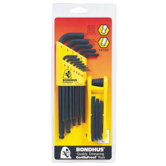 Bondhus Hex Key Set Ball End/Hex BLF22