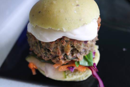 Mini Vegan Build your own Burger Platter for 10