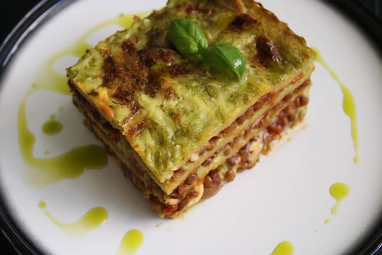 Vegan Lentil and Seed Lasagne