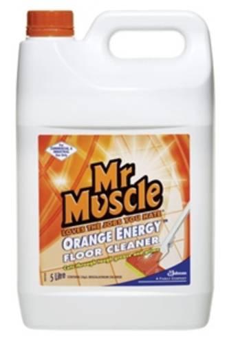 Mr Muscle Floor Cleaner Orange Energy Bottle 5Lt
