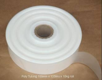 Plastic tubing - 100mm x 125mu x 10kg roll