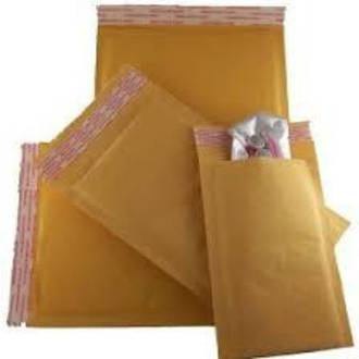 Bubble Padded Paper Envelope Brown 0 - 130mm x 180mm x 45mm flap