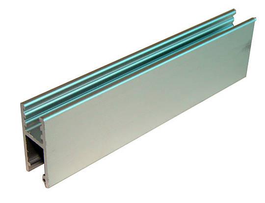 ALUM SLIDING TRACK - GLASS RAIL (1m)