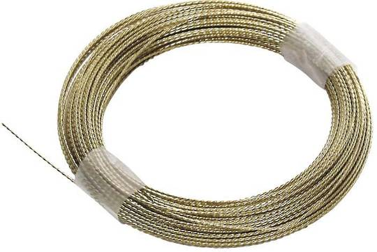 WINDSCREEN CUT OUT WIRE - GOLD BRAIDED