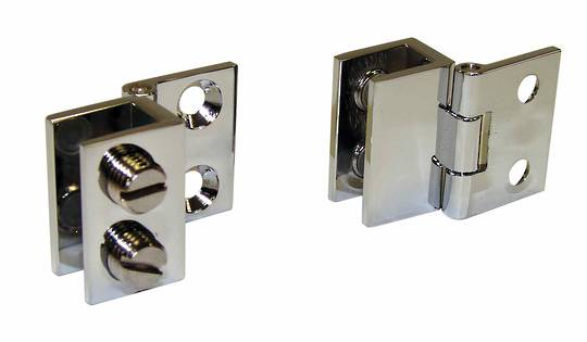 WALL TO GLASS HINGE CHROME - GLASS 4-6mm