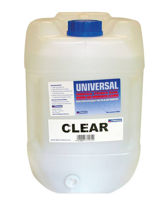 UNIVERSAL GLASS CLEANER - CLEAR 20L