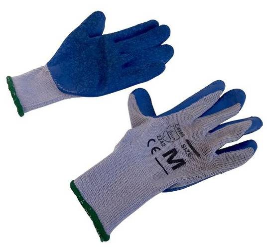 BLUE GLOVES LATEX MEDIUM