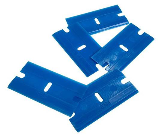 PLASTIC SINGLE EDGE BLADES - PKT 5