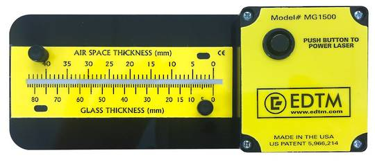 MG1500  GLASS AND AIR SPACE LASER GAUGE
