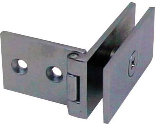 OFFSET RECTANGULAR HINGE - WALL TO GLASS
