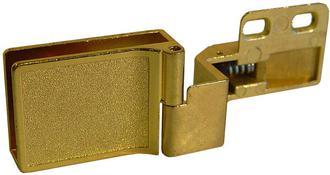 HEINZE GLASS HINGE GOLD -OVERLAY