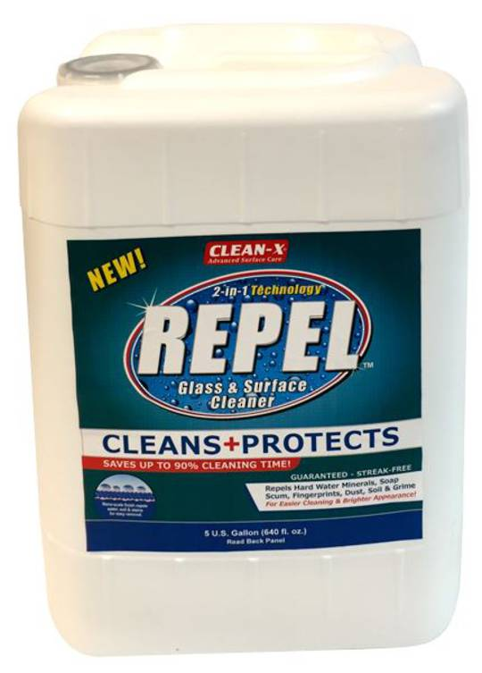 REPEL GLASS CLEANER 5 GALLON