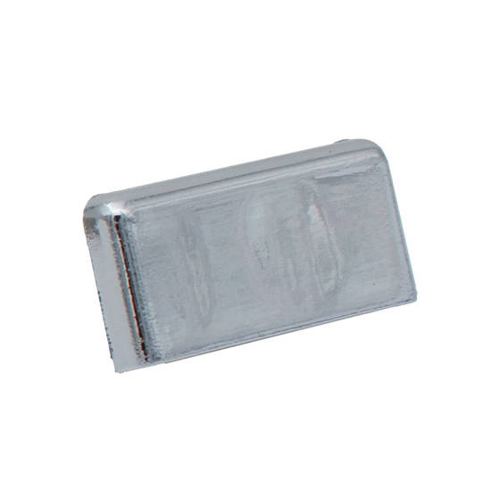 FINELINE SQUARE END CAP - SILVER L/H