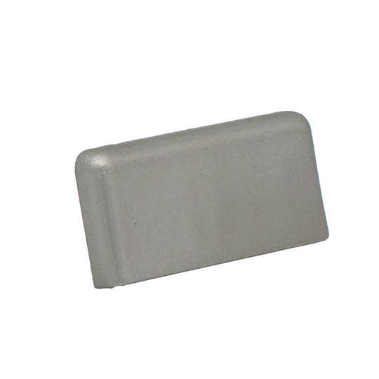 FINELINE SQUARE END CAP - SATIN RH