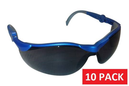 SAFETY GLASSES TINTED - 10 pack