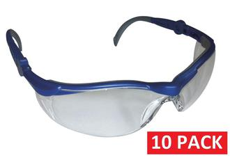 SAFETY GLASSES CLEAR - 10 pack