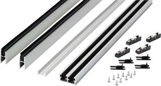 ALUM SLIDING TRACK - STD SET - 1200mm