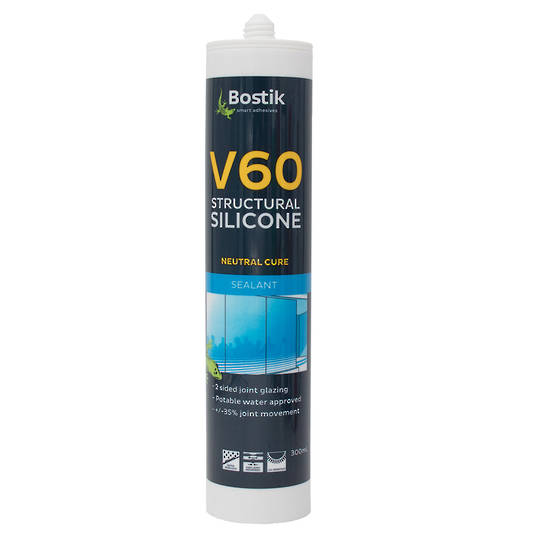 BOSTIK V60 SILICONE - BLACK 300ml