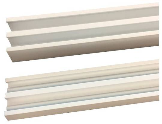 GLASS TRACK-SET-WHITE(6.3MM)  3.6M L