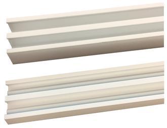 GLASS TRACK SET WHITE (6.3mm) - Per m