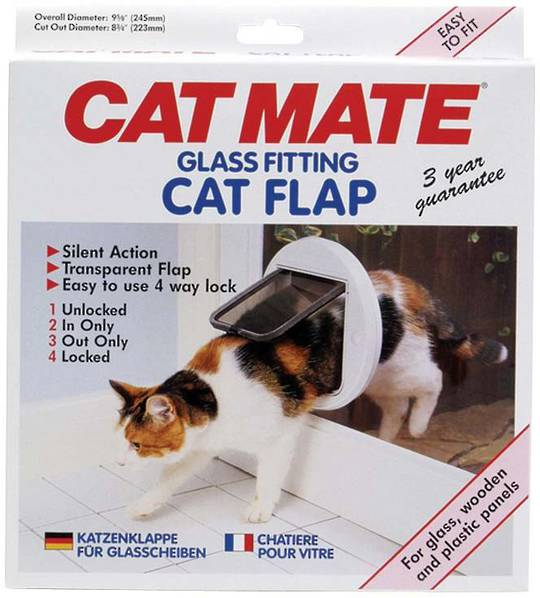 CAT MATE CAT DOOR For Glass/Wood