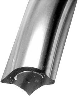 PVC CHROME FILLER STRIP - 50m