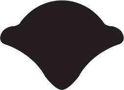 PVC FILLER STRIP BLACK - Per m