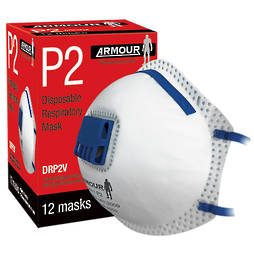 DISPOSABLE VALVE MASK - P2 (12 pack)