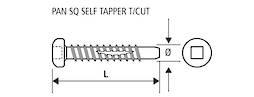 PAN HEAD SELF TAP LEAD POINT - 6g x 40mm