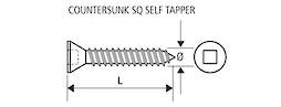 C/SUNK SELF TAPPING SCREW - 6g x 20mm