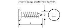 C/SUNK SELF TAP TRUNC SCREW - 8g x 20mm