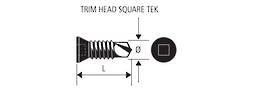 TRIM HEAD BLACK TEK SCREW - 8-32g x 12mm