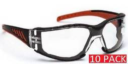 SAFETY GLASSES CLEAR (10 pack)