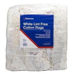 WHITE LINT FREE COTTON RAGS - 9.5kg