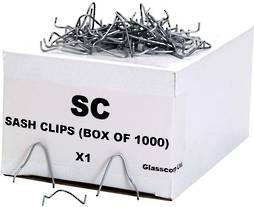 STEEL SASH GLAZING CLIPS (1000 pack)