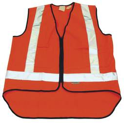 ORANGE SAFETY VEST - LARGE