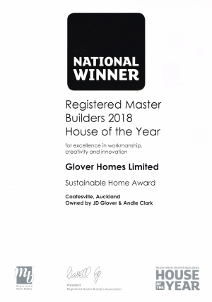 HOY 2018 National Sustainable Home Cert lowres